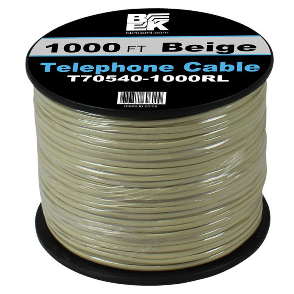 24 AWG Telephone Cable – 1000 Feet Beige